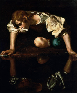 Narcissus Caravaggio 1594 96 edited 248x300 Myth in Psychotherapy   Narcissism: with Donna Savery